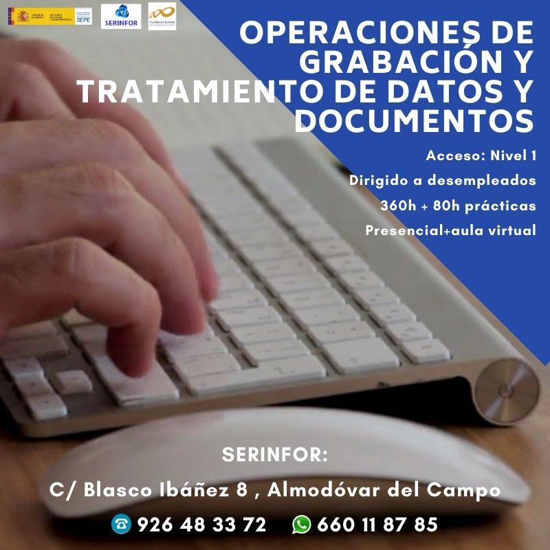 ADGG0508 - Operaciones de grabación y tratamiento de datos y documentos